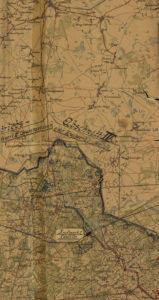 Kaart van de Doodendraad. De stroom wordt vanuit Caulille gehaald.